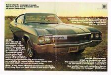 1968 Buick GS 350 Blue 2-door HT Centerfold Vtg Print Ad