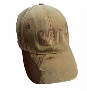 Caterpillar CAT Canard Fauve Toile Baseball Chapeau Casquette Dri-Duck Brodé