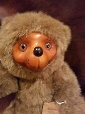 """Robert Raikes 12""""  Bear """"Sherwood""""  Carved Face and Foot Pads by Applause 1985"""