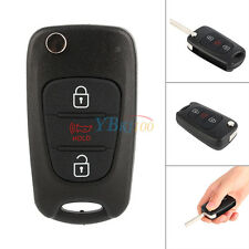 Black 3 Buttons Replacement Remote Key Fob Shell Pad Case For KIA Soul New LJ