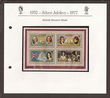Aitutaki 1977. Scott 148-151a (MNH) Silver Jubilee sheet. Cook islands