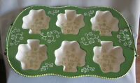 Temp-tations Floral Lace Green Oversized Texas Muffin Pan Baker Shamrock w/ Rack