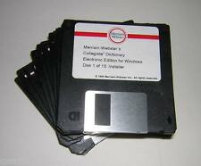 Vintage Merriam Webster Collegiate Dictionary on Floppy Diskettes (1995)