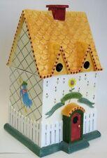 Home Sweet Home Birdhouse Cookie Jar By Vandor Brand New In Box