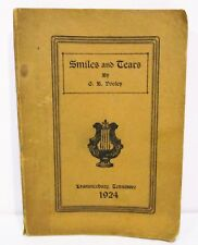 SMILES AND TEARS by G.B. DOOLEY 1924 PAPERBACK - SOUTHERN POETRY