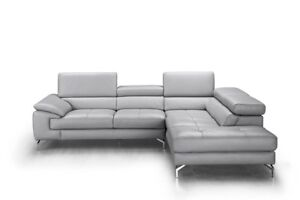 Olivia Premium Leather Right Hand Facing Sectional