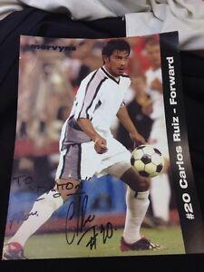 """CARLOS RUIZ - Forward #20,  8""""x10"""" Signed Photograph, MLS SOCCER"""