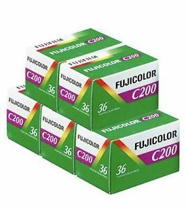5x - Fujifilm Fujicolor C200 Colour 36 Exposure 35mm