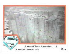 SUPERMAN The Movie trading cards 1978 Series 1 ~ Card #18 TOPPS