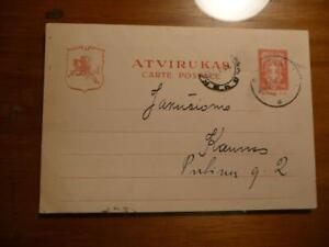Lithuania Postal Card 1931 Postally Used SKU#17357