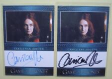 Lot 2014 GAME Of THRONES Season 3 Auto/AutoGraph Cards CARICE Van HOUTEN 2 Var's