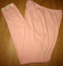 LILLY WICKET - PINK  - 100% COTTON -ELASTIC WAIST PULL ON PAJAMA BOTTOMS - L
