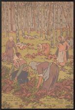 George Auriol. Carte de Joyeux Noel 1924. Christmas card. Japonisme. Montmartre
