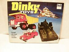 DINKY TOYS No 9 Catalog - 1973 - 40 pages w/ 4 pages of listing USA
