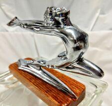 1934 Buick NOS Hood Ornament Goddess Mascot Radiator Cap Art Deco Nude Sculpture