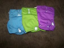3 brand new Pet Magasin Re Usable/Washable Doggie Diapers, green, purple & blue