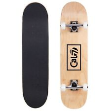 Cal 7 Fossil 8.0 Skateboards Complete Natural Wood Youth Adults Kids Pro- Carbon