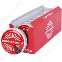 Scho-Ka-Kola Deutsche Caffine Dunkel Schokolade - Energieschub Cola Zinn 10er