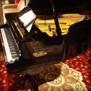 WERTHEIM GRAND PIANO GOLD SERIES W186 BP BRAND NEW 6'3' BLACK FINISH