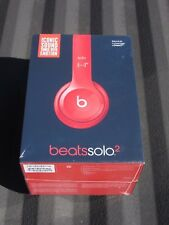 NEW SEALED BEATS BY DR DRE SOLO 2 SOLO2 WIRED HEADPHONES (PRODUCT RED) BY APPLE