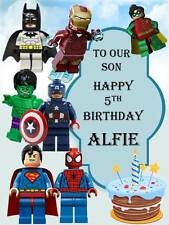 Personalised LEGO Superheroes Birthday Greeting Card with Envelope 309