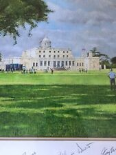 New listing Beautiful Original Painting By Keith BEckett-Hester Signed By Famous Golfers
