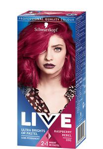 Schwarzkopf Live Ultra Brights Semi Permanent Hair Colourant Raspberry Rebel 091