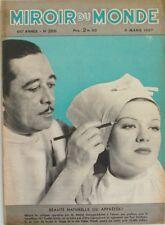 Le miroir du monde n°366 - 1937 -  Les Molécules - Indiens Chokai - Sestrières