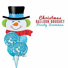 Party Supplies Christmas Frosty The Snowman Foil Balloons Bouquet