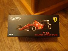 1:43 SCALE--HOT WHEELS ELITE--F1 89 N. MANSELL HUNGARY GP 1989 CAR (NEW) LIMITED