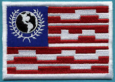 """Buck Rogers Earth Directorate Flag Fully Embroidered Patch - 4"""" x 3"""""""