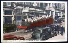 CANADA~1940's QUEBEC ~ OBSERVATION CAR ~ 15 CENT STORE? ~ Old Autos