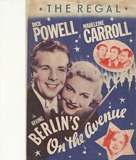 ON THE AVENUE(1937)DICK POWELL ORIGINAL PRESSBOOK HERALD