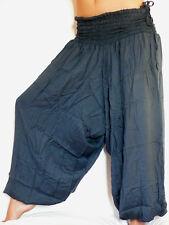 SAROUEL bleu gris PANTALON ETHNIQUE FEMME Taille unique ALADIN blue