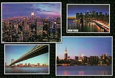Brooklyn Bridge, Manhattan, New York City, NY, Empire State Building - Postcard