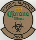 Flight Suit Patch  Tactical Patch Corona C O V I D 2020. VLCRO. FREE SHIPPING