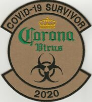 Flight Suit Patch  Tactical Patch Corona COVID 2020. VLCRO. FREE SHIPPING