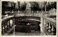 Donaueschingen alte Ansichtskarte 1935 Partie an der Donau Quelle Quellenanlage