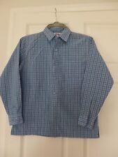 Boy's Shirt Sears Kids M Age 10-12 Blue Check Long Sleeves Formal Party BNWT