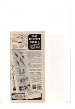 VINTAGE PFLUEGER TACKLE SPINNERS BAITS REELS GREAT NAME IN TACKLE AD PRINT J1