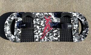 BOUNCEBOARD Classic Extreme TRAMPOLINE BOARD black/white/silver camo 33.5 In FUN