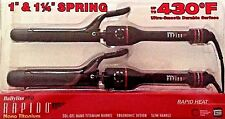 BaByliss Pro Rapido Nano Titanium Spring Curling Iron Duo up to- 430F #V10258