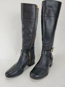 Michael Kors Bryce Size 7 M Black Riding Tall Boots