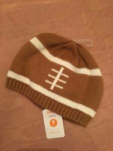 NWT Gymboree Baby Football Themed Beanie Hat Baby Boy 12-24M