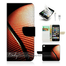 ( For iPhone 5 / 5S / SE ) Wallet Case Cover! Basketball P0226
