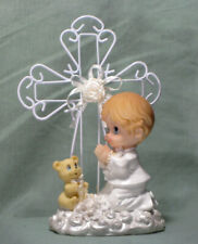 Christening/Communion Collectible Iron-wired Cross / Praying Boy (742B) Lot of 6