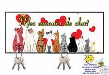 accroche clés mural en bois chat réf 252 personnalisable prénom