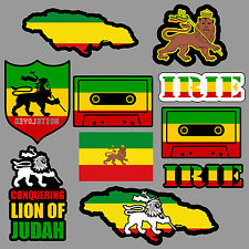 Lion of Judah Sticker Decal Pack / Lot Rasta Rastafari Jamaica Reggae 420 Skate