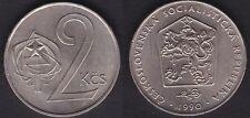 TCHECOSLOVAQUIE   2 KORUNY 1990   HIGH GRADE