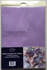 Ribbon & Bow Kit - Pastels - Makes 108 Bows - 9 Different Colours